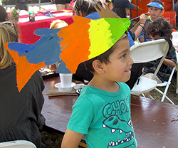 Participant with fish hat